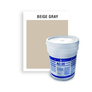 AC-20-GRAY-Gray-Beige Non-Sag, Acrylic Latex Caulking Compound standard colors-5 gallon
